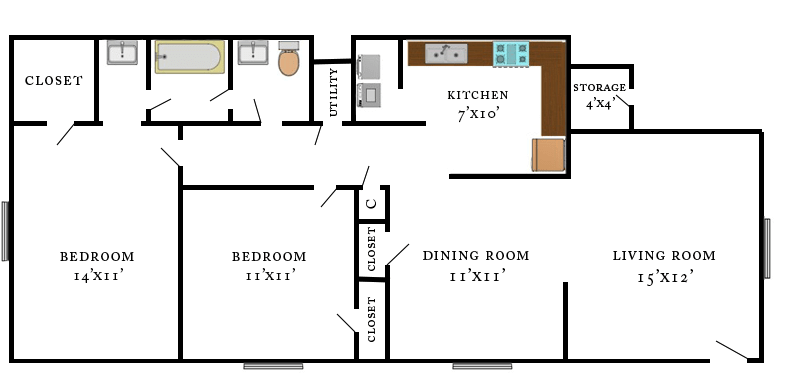 Wheeler Lower Level Floorplan