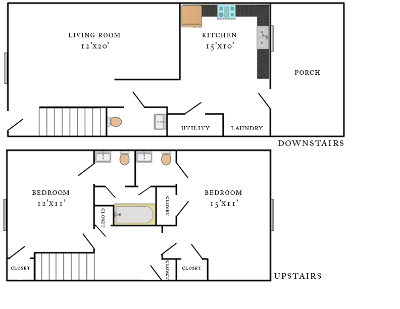 Wheeler Woods Townhouse Floorplan